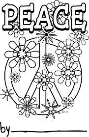 peace sign coloring pages peace sign coloring coloring