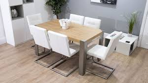 Modern Oak Desk Stylish Modern Oak Dining Table Leather Cantilever Chairs