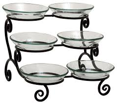 uma inc glass metal bowl server 15 x12 serving dishes and