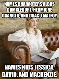 Mackenzie Meme - names characters albus dumbledore hermione granger and draco