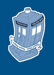 doctor who wibbly wobbly timey wimey illustration one day one
