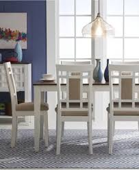 delran white 7 piece set dining room furniture set furniture