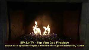 golden blount superfire 42 inch b vent fireplace with glass