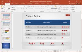 free rating stars powerpoint template
