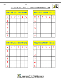 Times Table Worksheets 1 12 Multiplication Practice Worksheets To 5x5