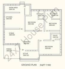 space saving house plans sq ft single storied space saving 3 attached bedroom design free
