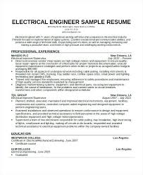 Electrical Engineering Resume Sample Pdf Sample Electronics Engineer Resume Free Doc Engineer Resume