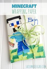 minecraft wrapping paper diy minecraft wrapping paper satsuma designs