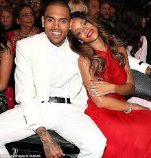 rihanna watches ex chris brown take part in charity basketball