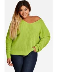 spectacular deal on plus size v neck knotted back sweater