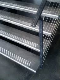 steel stair treads and risers home design ideas and pictures