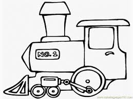 coloring pages train transport land free printable 746573