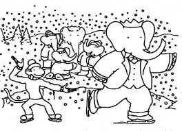 king babar elephant family ice skating zephir monkey