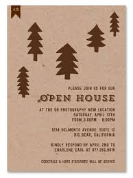 open house invitations business event invitations woodsy open house by green business print