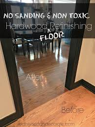 how to refinish a wood floor without sanding meze