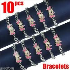 Baby Shower Bracelets - lot 10pcs disney baby minnie mouse bracelets baby shower birthday