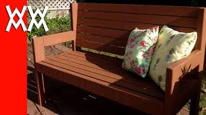 Simple Wooden Park Bench Plans by Build A Simple Garden Bench Easy Woodworking Project Youtube