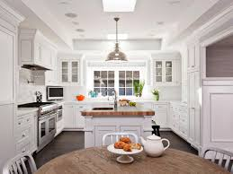 Kitchen Island Eating Area Transitional White Kitchens With Island Dzqxh Com