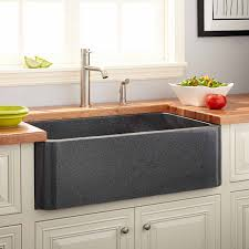 36 polished granite farmhouse sink blue gray