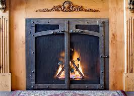 Ideas Fireplace Doors Home Decor Wrought Iron Fireplace Doors Home Design Popular