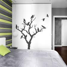 crow tree wall decal