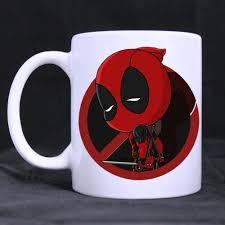Coffee Mug Design Wholesale Cartoon Cool Deadpool Custom Made Beer Coffee Mug