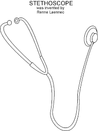 stethoscope coloring page eson me
