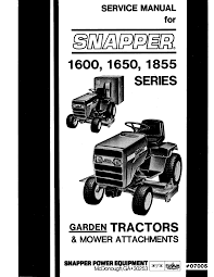 snapper lawn mower 1600 1650 1855 user guide manualsonline com
