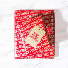 christmas wrap paper merry f cking christmas wrapping paper popsugar