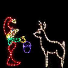 animated outdoor christmas decorations feeding reindeer led animated outdoor christmas display