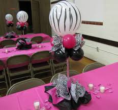 Zebra Home Decorations Party Table Decorations Ideas