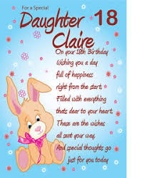 personalised a4 18th birthday card daughter great granddaughter