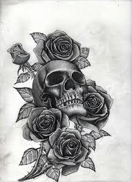 skull with roses tattoo u0027s pinterest tattoo tatting and