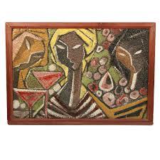 tanciullacci italian ceramic mural of three cubist women at a
