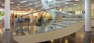 Curved Handrail Glass Railings