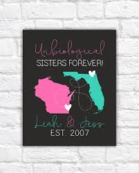 Trendy Gifts by Unbiological Sisters Cute Personalized Art For Best Friends Like