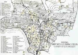 Greater Los Angeles Map by Abandoned U0026 Little Known Airfields California Central Los
