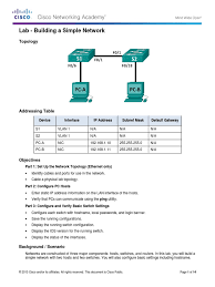 2 3 3 4 lab building a simple network network switch ip address