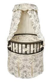 amazon com badger basket elegance round baby bassinet white
