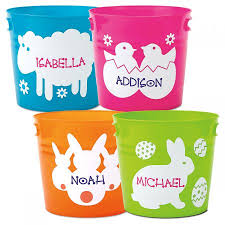 monogrammed easter buckets personalized easter buckets lillian vernon