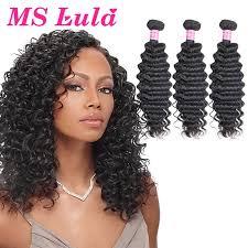 crochet black weave hair 2017 new products deep wave brazilian hair 3 bundles curly weave