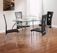 dining room table top ideas oval transparent glass dining table top with chrome legs combined