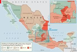 map of mexico yucatan region contrasting corruption bribery in mexico