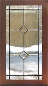 Somers Tiffany B Custom Kitchen Cabinet Beveled Panel - Glass panels for kitchen cabinets