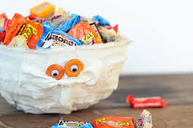 diy halloween decorations cute mummy trick or treat bowl pink