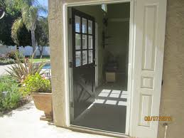 home decor retractable screen doors with black color and