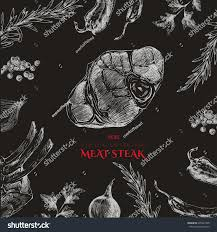 vector hand drawn meat restaurant menu stock vector 395249728