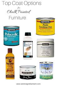 what is the best sealer for chalk painted kitchen cabinets top coat options for chalk painted furniture west magnolia
