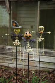 of 3 halloween yard stakes