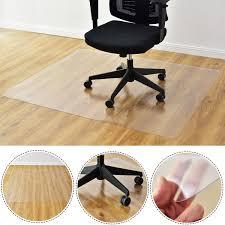 plastic floor cover for desk chair costway rakuten costway 47 x 59 pvc chair floor mat home
